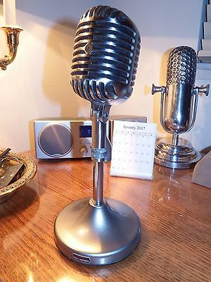 """Vintage 1940's Shure 55 Microphone """"Fatboy"""" WORKING BEAUTY!"""