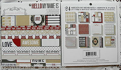 HELLO MY NAME IS 6x6 TERESA COLLINS 12 designs Two-sided Paper 24 Sheets