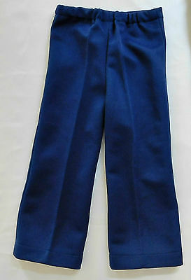 Childrens vintage trousers 1960s Unisex Navy blue boy girl UNUSED Imperfect