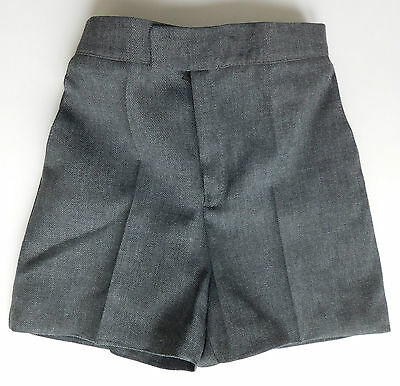 Vintage childrens shorts Boys grey school uniform UNUSED 1970s 1980s Brian Grant