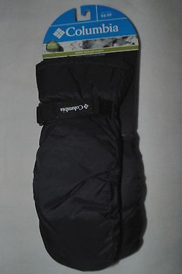 Columbia Y Core Black Mittens Winter Ski Snow ~ Youth Size Xs (4-6X) ~ Nwt