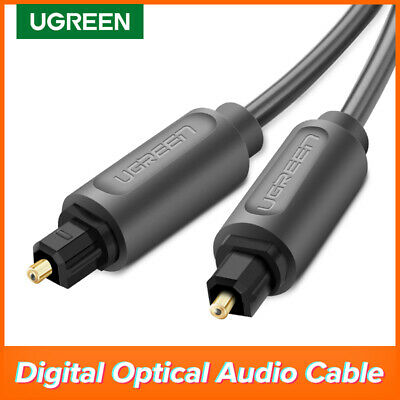 Ugreen 1m Optical Cable Digital Audio Lead Toslink SPDIF SURROUND SOUND 24K Gold
