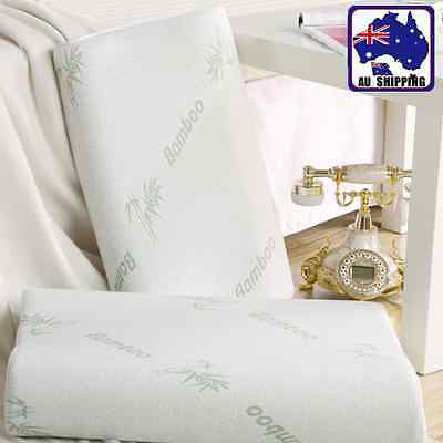 1pc Bamboo Contour Memory Foam Pillow Fabric Fiber Cover 48x28cm HPIF45200