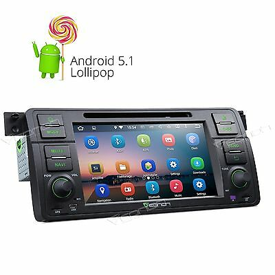 !Android 5.1 Lollipop Quad-Core CD DVD MP3 Player Stereo GPS for BMW E46 A WIFI