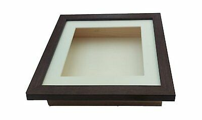 "DEPTH 1"" INCH UK 3D Shadow Box Deep Picture Frame Display Case Medals casts"