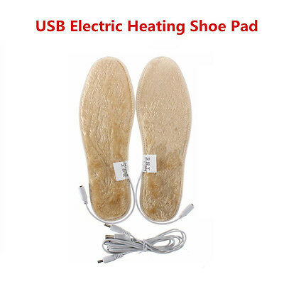 USB Charging Winter Electric Foot Warmer Heater Shoes Insole Heated Shoe Pad New