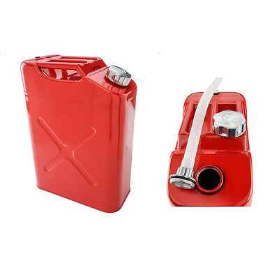 Jerry Can 20L Liter 5 Gallon Steel Tank Fuel Can Gas Fuel Tank Gasoline Red New