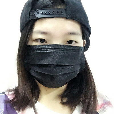Disposable 3- layer Dustproof Face Mask Mouth cNon-woven Filter  Medical Salon