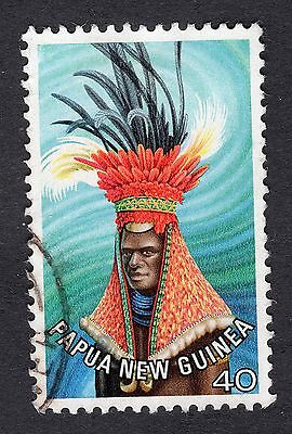 1977 Papua New Guinea Waghi Valley Headdress 40t SG 326 Good Used R7726