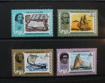 FIJI 1970 Explorers and Discoverers. Set of 4. Mint Never Hinged. SG424/427.