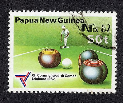 1982 Papua New Guinea 50t Commonwealth Games Bowls SG 463 Very Good Used R7759