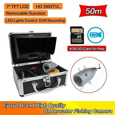 EYOYO 50M Silver Underwater Fishing Fish Finder Camera Video Recorder DVR Photo