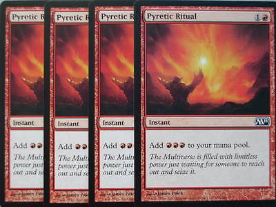 XXX 4x PYRETIC RITUAL englisch magic 2011 M11 (red) NEARMINT XXX XXX XXX XXX XXX
