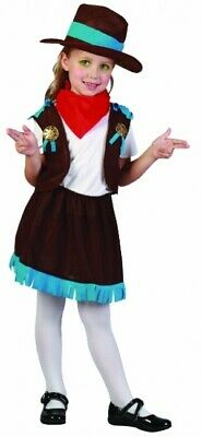 New Adult Ladies Rodeo Girl Fancy Dress Wild West Western Cowgirl Costume