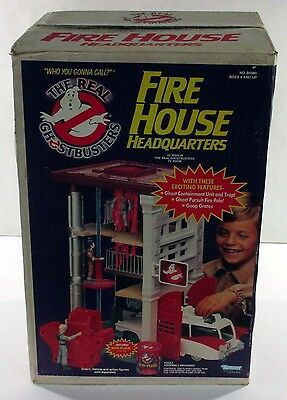 Vintage 1984 Kenner The Real Ghostbusters Fire House Headquarters Sealed RARE