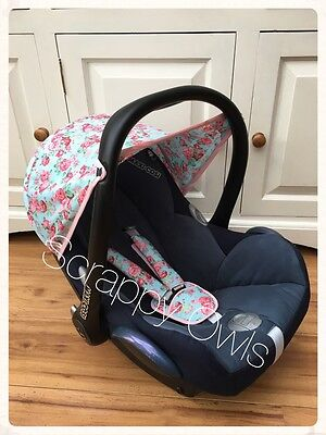 Maxi Cosi Cabriofix Car Seat Custom Floral Hood And Straps