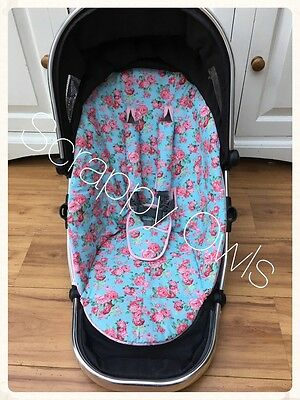 Icandy Peach Custom Floral Main Seat Liner And Strap Set