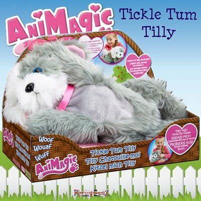 AniMagic Tickle Tum Tilly Plush Soft Cuddly Toy Puppy Dog with Sound & Movement
