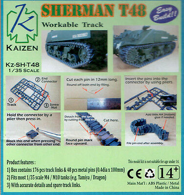 Kaizen 1/35 Sherman T-48 Workable track link