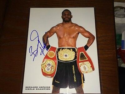 Bernard Hopkins Signed 8x10 Photo - Boxing Champion - PSA Guarantee