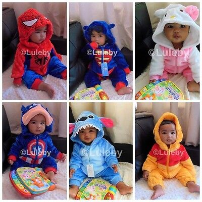 Soft Baby Toddlers Outerwear Unisex Cosplay Animal Onesie Costume romper
