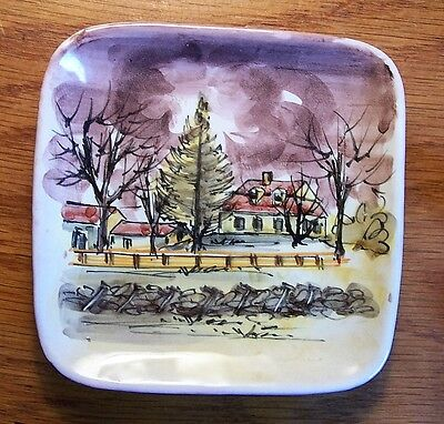Woodstock VT Vermont Souvenir Tray Birthplace of Hiram Powers Classical Sculptor