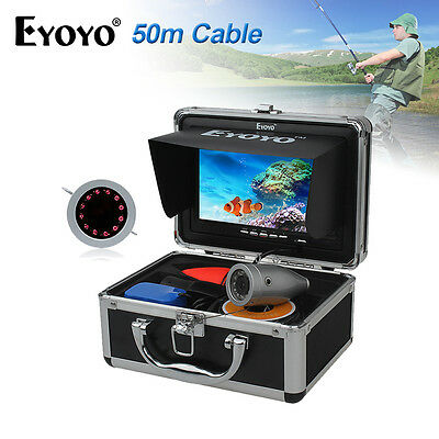 "Eyoyo Fish Finder IR Underwater Fishing Video Camera 7"" TFT HD Monitor&50m Cable"