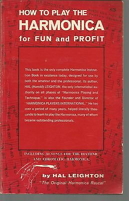 How To Play The Harmonica For Fun and Profit Hal Leighton PB 1978