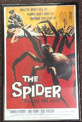 "THE SPIDER Bert I. Gordon Movie Poster Repro Sealed Framed 17x11"" AMC 2003"