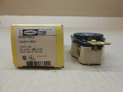 1 Nib Hubbell Hbl2350A 2350A Receptacle Locking Device 20A 480V Flush Mounting