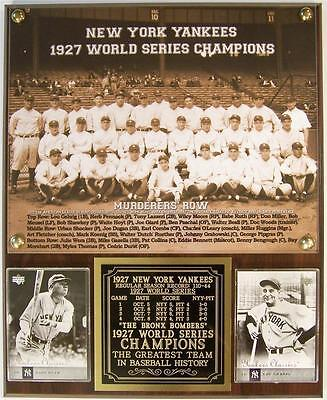 1927 World Series Champions Murderers Row New York Yankees Photo Card Plaque