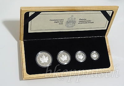 1989 Kanada Platin - Canadian Platinum Maple Leaf 4-pieces Proof Set