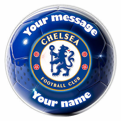 """FC CHELSEA - Personalised Party Cake Topper Edible print on icing 7.0"""" 18 cm"""