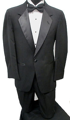 "Black One Button ""Parisian"" Tuxedo Jacket with Pants Prom Wedding Cruise Mason"