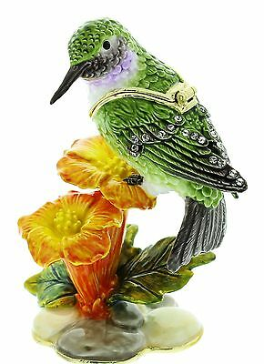 Humming Bird, Bird Trinket Box, Ornament,juliana Treasured Trinkets