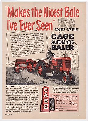 "1953 Case Tractor Pulling Automatic Baler - ""NT"" Twine-Tie Baler"