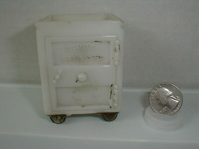 1908 Westmoreland West Bros. Glass Candy Container - OPALWARE PENNY TRUST SAFE
