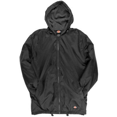 Dickies Fleece Lined Nylon Hooded Windbreaker Men's Zip Up Jacket Style # 33237