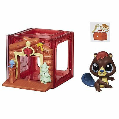Littlest Pet Shop Mini Style Set with #4025 ALDER WATERLEY Beaver Figure (B2896)