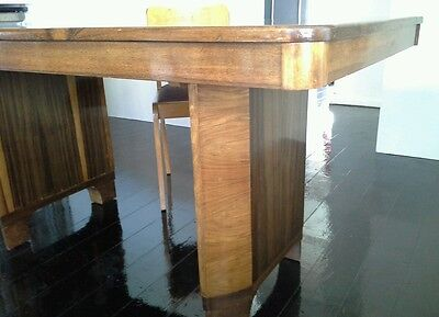 Art Deco Dining Table Original Solid Timber c 1930's Made by NO.18 Reg Company