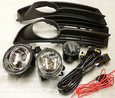 VW TOURAN 2003 - 2006 WIRING LOOM & SWITCH + FOG LIGHTS & COVER GRILL (full set)