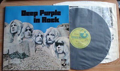 Deep Purple In Rock Lp 70 Uk Harvest True 1St A1B1 Matrices Unboxed Gramophone