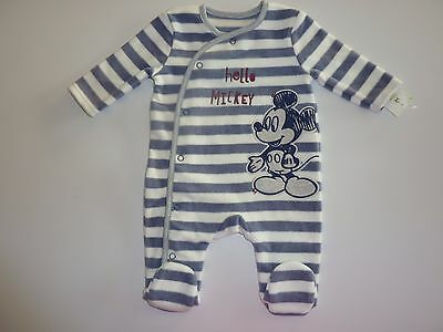 Disney MICKEY MOUSE Fleecy Sleepsuit NWT