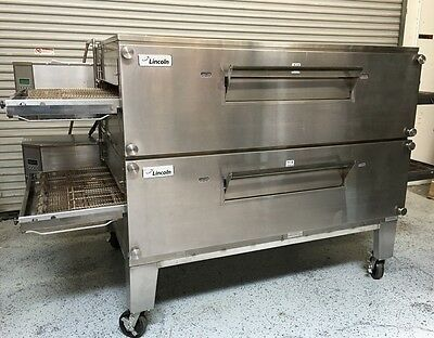 NEW Lincoln Pizza Oven Double Stack Conveyor 3270-2 GAS #5196 Impinger NSF Bake