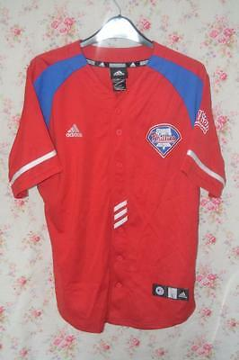 Philadelphia Phillies Adidas Young 10 Baseball Jersey Large Boys 14-16 Years