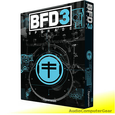 FXpansion BFD3 UPGRADE from BFD2 Virtual Drum Software Plug-in NEW MAKE OFFER