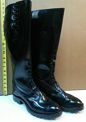 NEW MEN/'S INTAPOL POLICE MOTORCYCLE PATROL BOOTS WITH ZIPPER BACK BLACK 9EEE