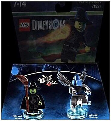 LEGO Dimensions, Fun Pack, The Wizard of Oz, Wicked Witch, 2 Figuren