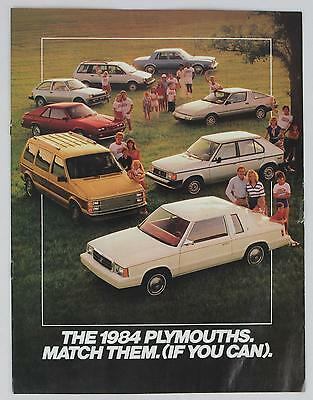 Plymouth 1984 Match Them (If You Can) Sales Brochure / Literature