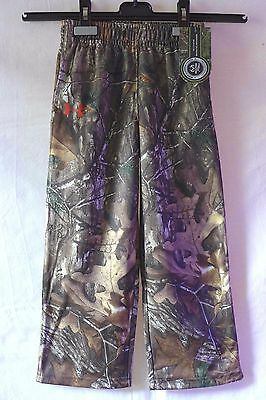 Under Armour Youth Boys Realtree Fleece Pants Size 4    NWT